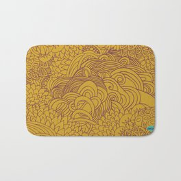 yellow seeds Bath Mat
