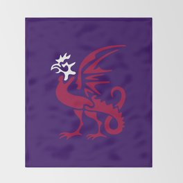 Myths & monsters: basilisk Throw Blanket