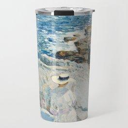 The South Ledges, Appledore - Childe Hassam Travel Mug