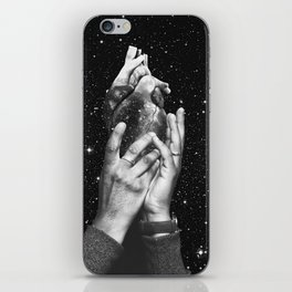 Heart says hold on iPhone Skin