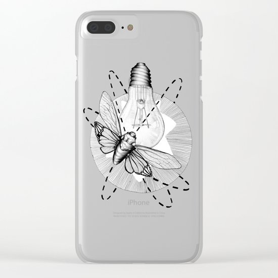 Moth to the Flame Clear iPhone Case