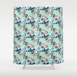 Canada Pattern Shower Curtain