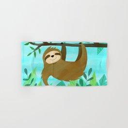 Cute Sloth Hand & Bath Towel