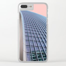 London Architecture in Pink Clear iPhone Case
