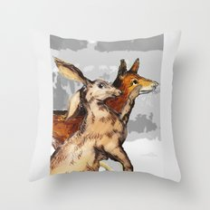 Faithful companions Throw Pillow