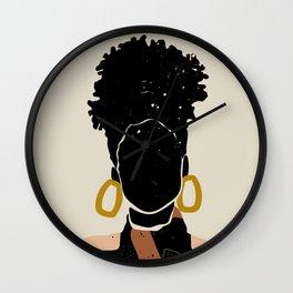 Black Hair No. 14 Wall Clock
