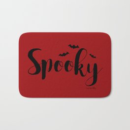 Spooky - red/black Bath Mat