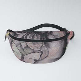 Sugar Coated Sour: Pomegranate (nude curvy pin up with butterflies) Fanny Pack