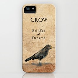Crow, Message Bringer iPhone Case