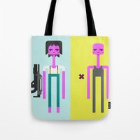 ripley Tote Bags featuring ALIEN(S)³ - Ellen Ripley Icons by Omar Rodriguez-Rodriguez