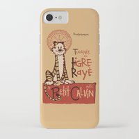 hobbes iPhone & iPod Cases featuring Le Tigre Rayé by Arinesart