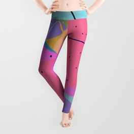Random Thoughts I - Abstract, minimalist, scandinavian pop art Leggings
