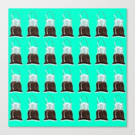 takeaway coffee pattern, mint Canvas Print