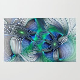 Fantasy Place, Abstract Fractal Art Rug