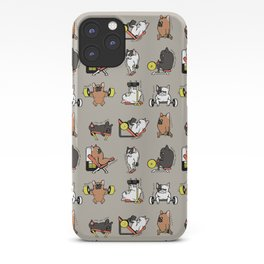 Leg Day with Frenchie iPhone Case