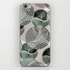 Zentangle and Tree Motifs in Circles iPhone & iPod Skin