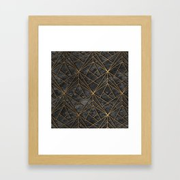 Elegant geometric modern rock Framed Art Print