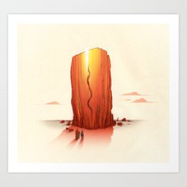 Amber Monolith Art Print