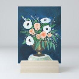 blush and white bouquet Mini Art Print