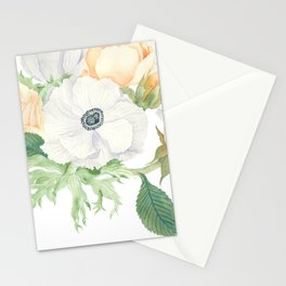 David Austin Roses and Anemones Stationery Cards