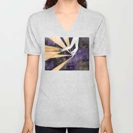 magic fingers in space Unisex V-Neck