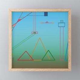 Flying Back Into Town Framed Mini Art Print