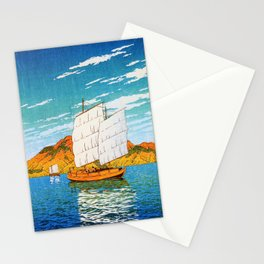 A Boat Laden With Stones, Bingo, Views Of Japanese Scenery - Digital Remastered Edition Stationery Cards