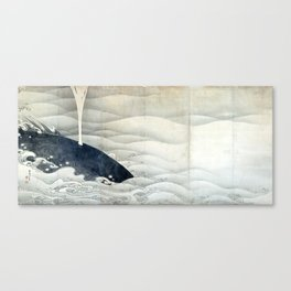Elephant and Whale Screens by Ito Jakuchu Canvas Print