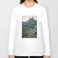 hawaii Long Sleeve T-shirts featuring Hawaii Mountain by Kurt Rahn