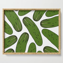 Green Pickles Serving Tray