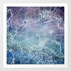 Polar Purples Art Print