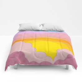 Sixties Inspired Psychedelic Sunrise Surprise Comforters