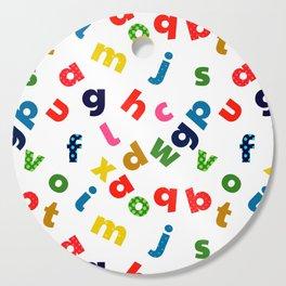 colourful alphabet Cutting Board