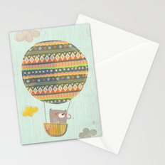 Bear in the air Stationery Cards