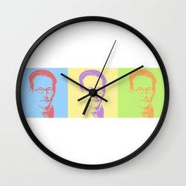 Erwin Schrödinger Wall Clock