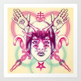 Demonic - Anaglyph Art Print