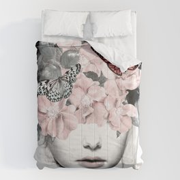 WOMAN WITH FLOWERS 10 Comforters
