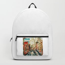 Winter in Chinatown - New York Backpack