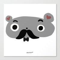 moustache Canvas Prints featuring moustache by Sucoco
