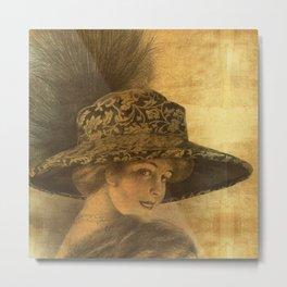 Golden victorian lady Metal Print