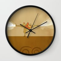 aang Wall Clocks featuring Avatar Aang by daniel