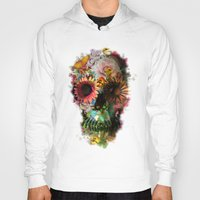 new york map Hoodies featuring SKULL 2 by Ali GULEC