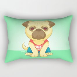 Pug Love Rectangular Pillow