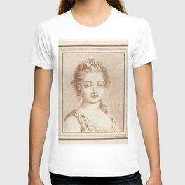 Bust of a young girl, Louis Marin Bonnet, 1757 - 1793 T-shirt