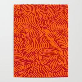 orange red flow Poster