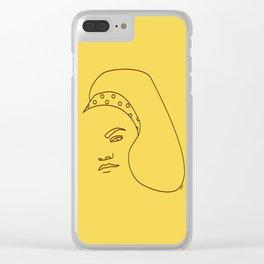 Eartha Kitt Clear iPhone Case