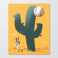 league Canvas Prints featuring Cactus League by John W. Tomac
