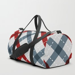 Colorful Geometric Strips Pattern - Kitchen Napkin Style Duffle Bag