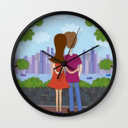 A Day in Weehawken Wall Clock
