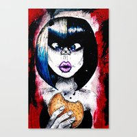 burger Canvas Prints featuring Burger by Tufty Cookie